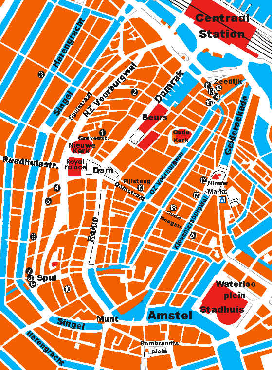 Amsterdam centre map
